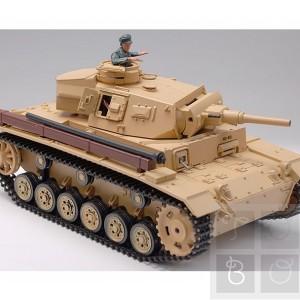 Tanc Panzer III cu telecomanda, (trage cu Bile Airsoft si cu FUM)