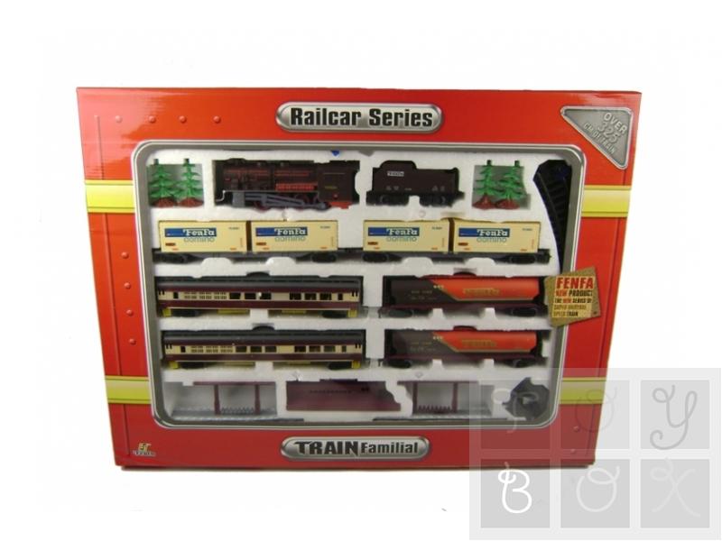 Trenulet electric cu locomotiva cu aburi (Set complet)